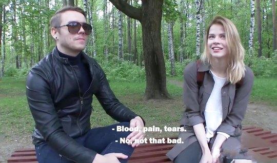 Пикапер снял на улице русскую телочку и подарил ей самый горячий трах ...