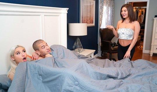 Блондинка затащила мужа сестры в шкаф и развела его на измену...